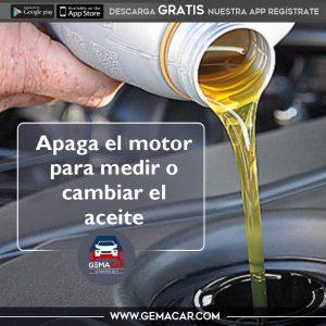 Pasos para medir el aceite del motor
