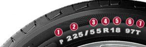 como leer las características de los neumáticos