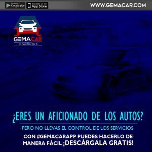 registra los servicios del auto con gemacar